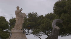 A long shot of Saint Paul's Statue Stock Footage
