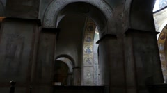 The Walls and Columns of the Old Cathedral. Stock Footage