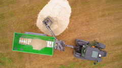 Aerial view of the agriliming activity Stock Footage