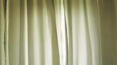 Close up of moving curtains Stock Footage