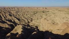 Flying Across the South Dakota Badlands Stock Footage