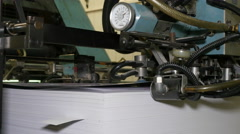 Old printing press Stock Footage