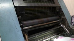 Working printing roller Stock Footage