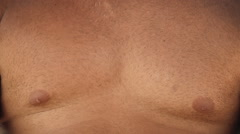 Contracting chest muscles Stock Footage