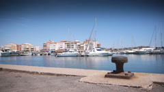 Luxury harbour at mediterranean sea, south France Stock Footage