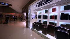 Rimowa store in Hing Kong mall. Stock Footage