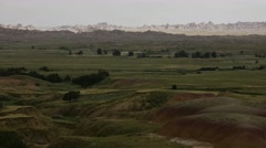 Shadows Change over Badlands and Prairie Stock Footage