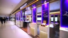 Breguet store in Hong Kong mall. Stock Footage