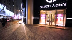 Giorgio Armani store in Hong Kong. Stock Footage