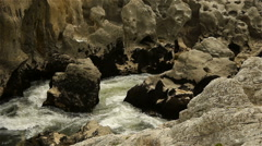 Wild water at Gorges L'Herault, France Stock Footage