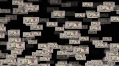 Fifty dollars background Stock Footage