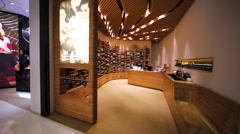 Aesop store in Hong Kong mall. Stock Footage
