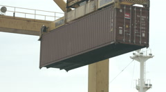 Container Operation In The Port - stock footage
