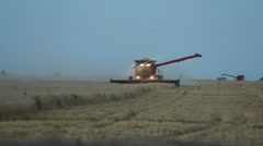 Case IH - Front View of Combine - Evening Stock Footage