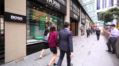 Hugo Boss store in Hong Kong. Stock Footage