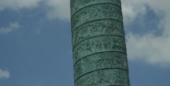 Tower Monument at Place Vendome Stock Footage