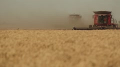 Case IH - Front View of Combine  Stock Footage