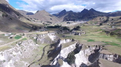 Valley of Shade and Sheep in the Andes Stock Footage