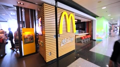 McCafe in Hong Kong mall. Stock Footage