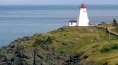 Pretty Lighthouse on Atlantic Coast. Stock Footage