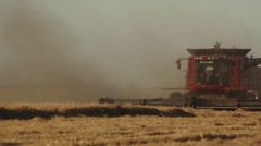 Case IH - Two Combines Cutting Wheat Stock Footage