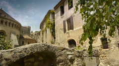 Old abbey at historic St Guilhem le Desert, Cevennes France Stock Footage