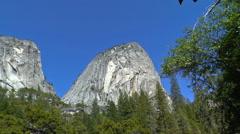 Liberty Cap in Yosemite Stock Footage