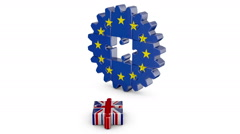 Puzzle  EU and UK alpha matte Stock Footage