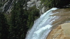 At the Top of Vernal Falls in Yosemite Stock Footage