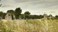 Chemin de la Croix, Gignac France - stock footage