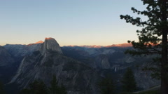 Panoramic View of Yosemite from Glacier Point Stock Footage