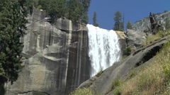 Vernal Falls in Yosemite National Park United States  - stock footage