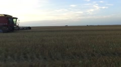 Side View of Combine Stock Footage
