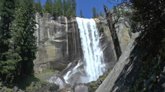 Vernal Falls in Yosemite Stock Footage