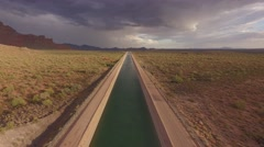 4K Drone Aerial Arizona Canal Stock Footage