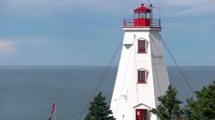 Lighthouse on Atlantic Coast. Stock Footage