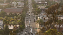 Culver City Traffic Time Lapse 06 Los Angeles 8K Stock Footage