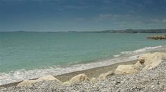 Coastline of Crocs de Gagnes, Cote D'Azur France Stock Footage