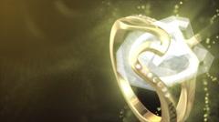 Diamond Ring Background 4K (Loop B) Stock Footage