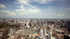 4K: time lapse, Bangkok city aerial view, Thailand Stock Footage