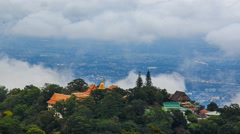 Wat Phra That Doi Suthep Famous Temple On Mountain Of ChaingMai, Thailand Stock Footage