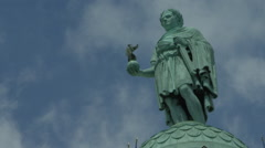 Time lapse of Clouds passing by Napoleon Statue at Place Vendôme - Paris France Stock Footage
