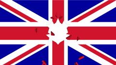 Great Britain flag is breaking Stock Footage