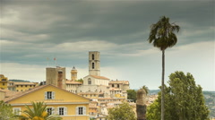 Panorama of Grasse, Cote D'Azur France Stock Footage