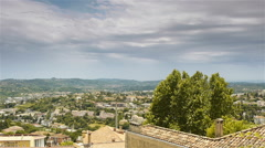 Scenic overview of Grasse, Cote D'Azur France Stock Footage