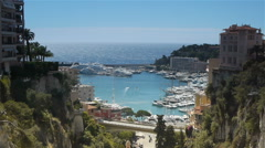 Panorama of Monaco, Cote D'Azur France Stock Footage