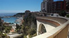 Cityscape of Monaco, Cote D'Azur France Stock Footage