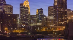 Minneapolis Building Lights - stock footage