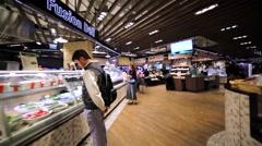 Walking through the aisles at the hong kong supermarket. Stock Footage