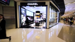 Chanel store in Hong Kong mall. Stock Footage